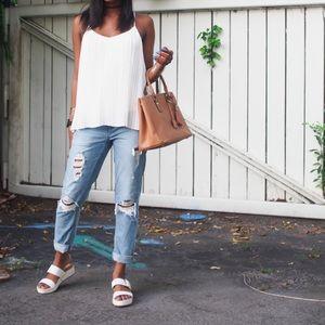 0270 Express Girlfriend distressed jeans sz 8